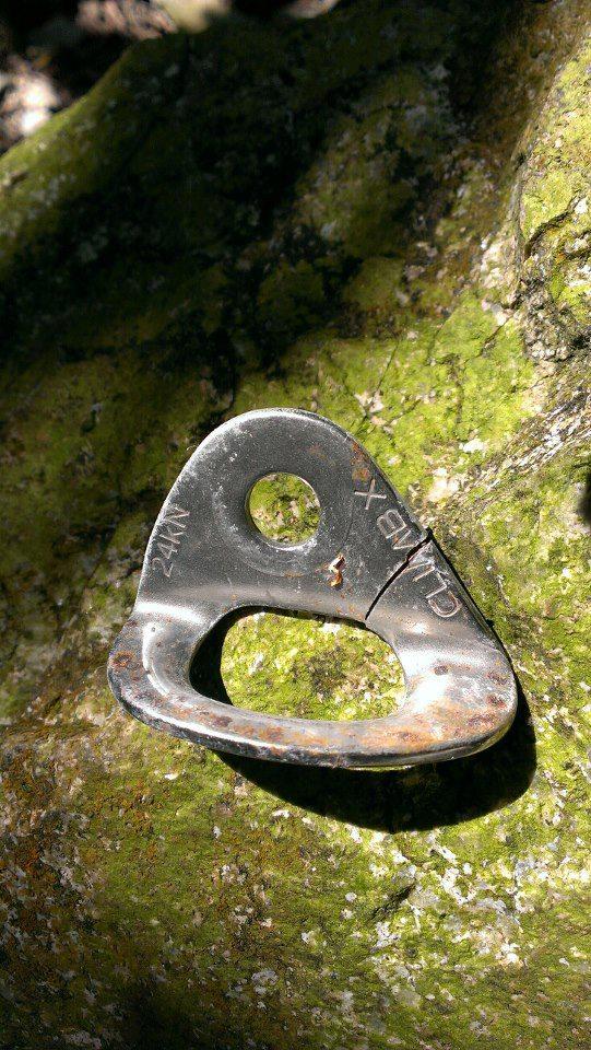 Cracked / Broken climbing hanger