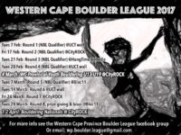 Western Cape Province Boulder League 2017