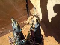 Trad climbing fall