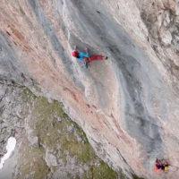 Spain climbing big wall