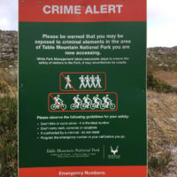 SANParks Crime Sign