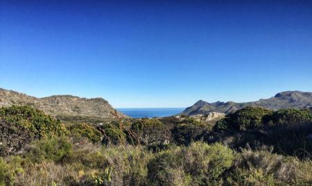 St James Hike escarpment