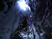 Ice climbing glacier