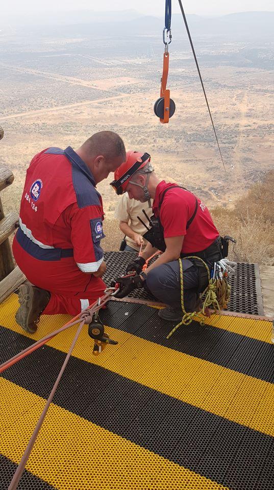 plane Rescue crew