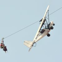 Aircraft zip line rescue