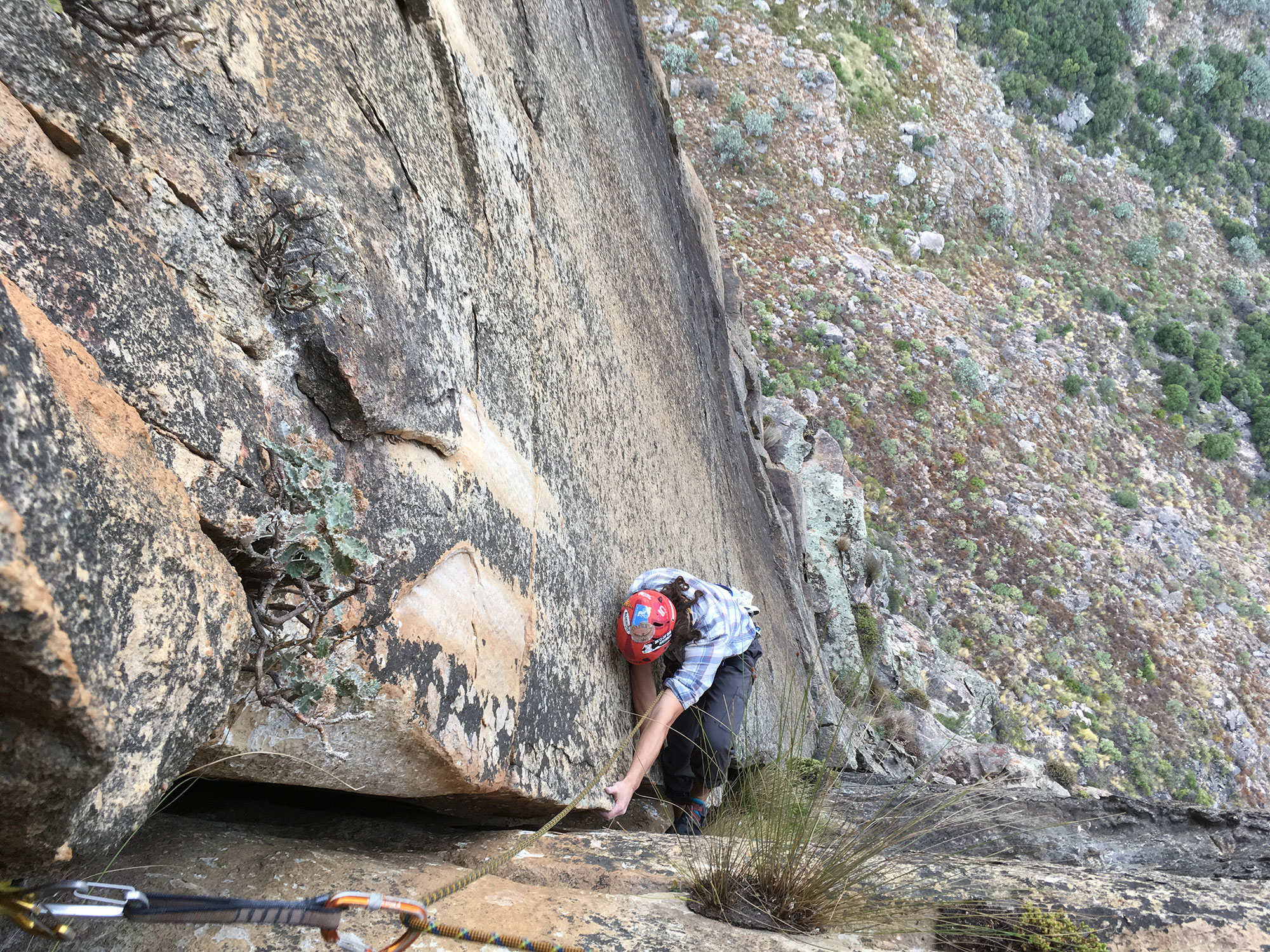 Layback Climbing