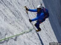 Eric Woerth climbing