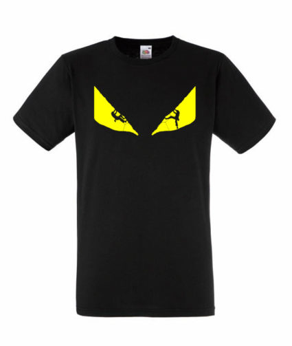 ClimbZA Animal Mens Tshirt Black_front