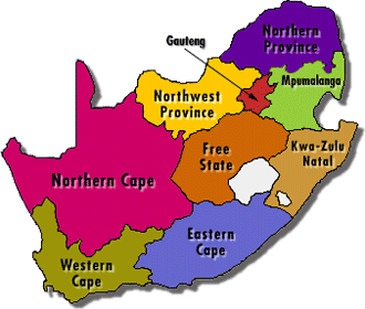 South Africa Provinces.