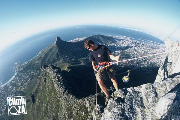 Justin Lawson on Table Mountain. Photo by Riki Lawson