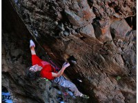 Adam flashing an 8b on the Rock and Road Pic: Martin Renz