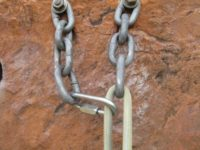 Mailon added to extend chains and reduce rope twisting