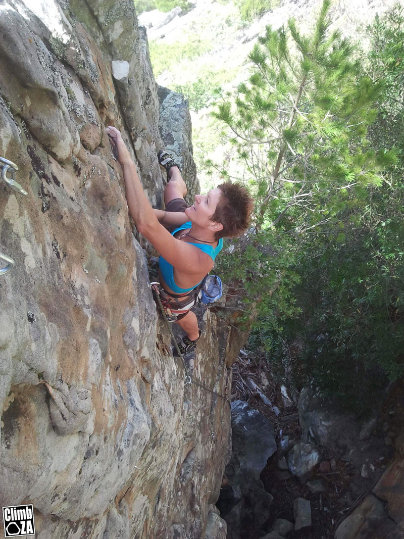 New crag at Silvermine