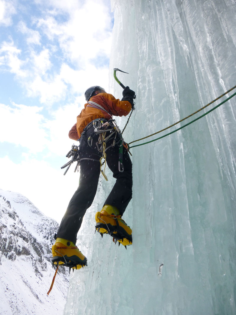 Ice Climbing in Cogne