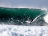 Fear surfing big wave
