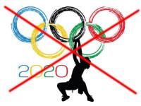 No Olympic rock climbing sign