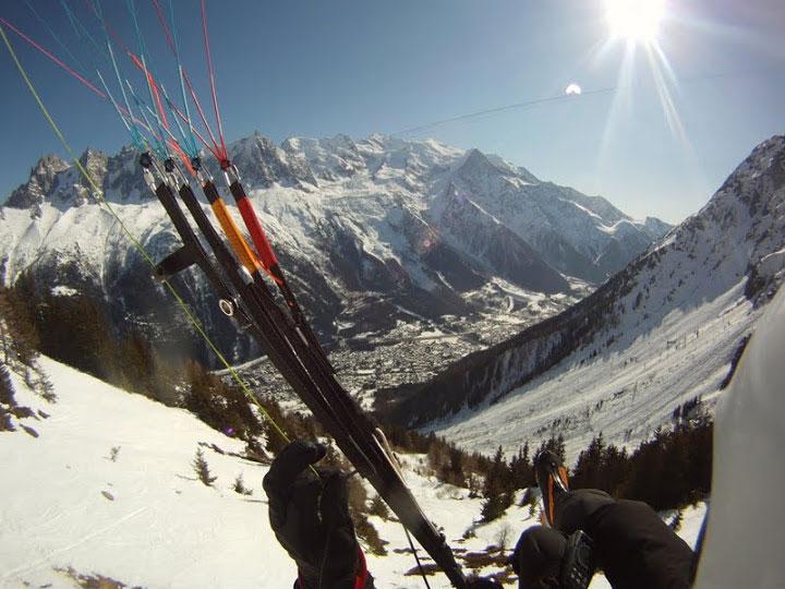 flying above Chamonix