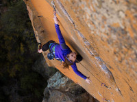 Paige Claassen rock climbing South Africa