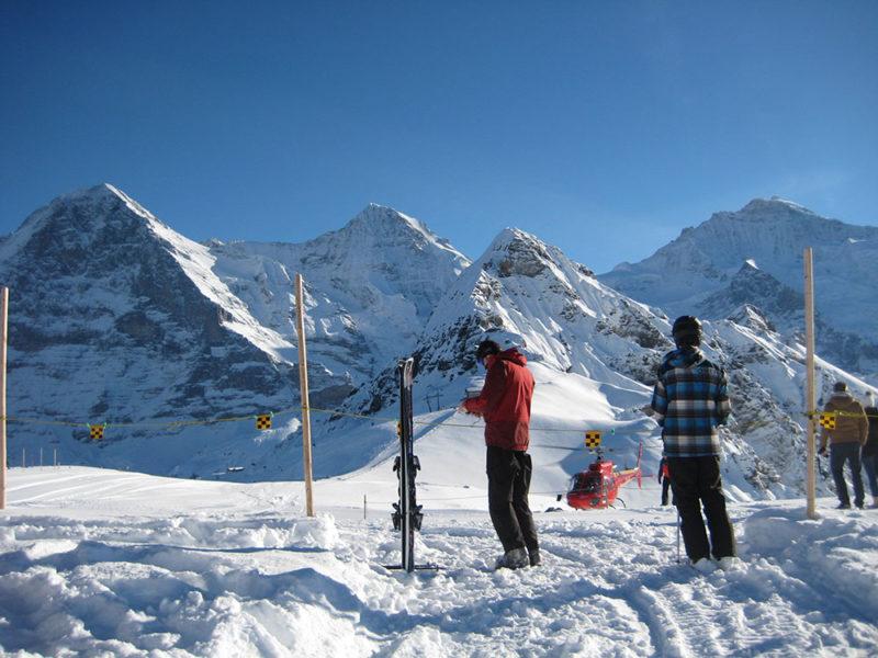 Winter ice climbing