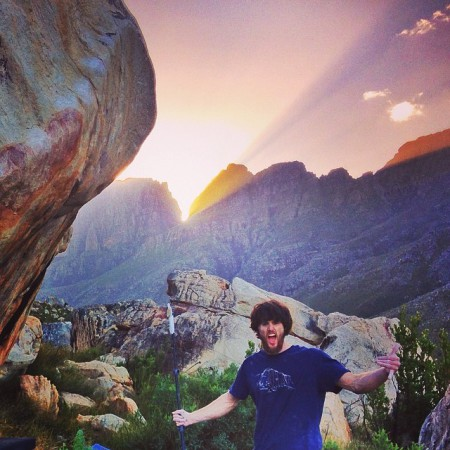 Jimmy Webb bouldering in South Africa