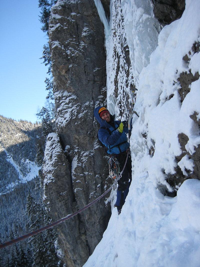 Kevin Marki ice Climbing