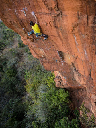 Kilian Fischuber climbing, South Africa, Waterval Boven