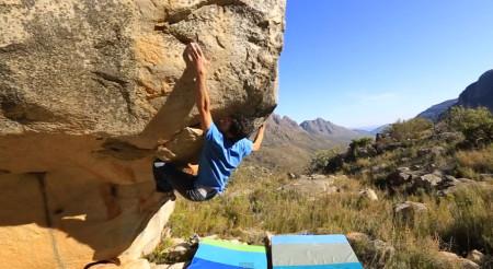 Paul Robinson climbing in the Cederberg