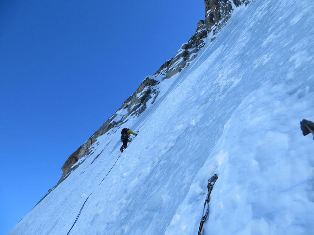 Ice climbing slab