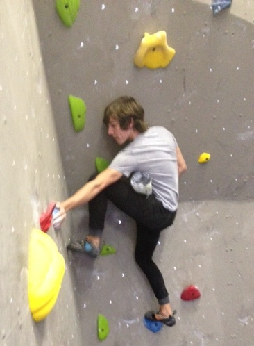 Tanner solving Dave's devious blue route