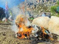 burning rubbish in Cederberg