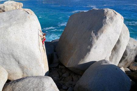 Matt Bush bouldering Llandudno