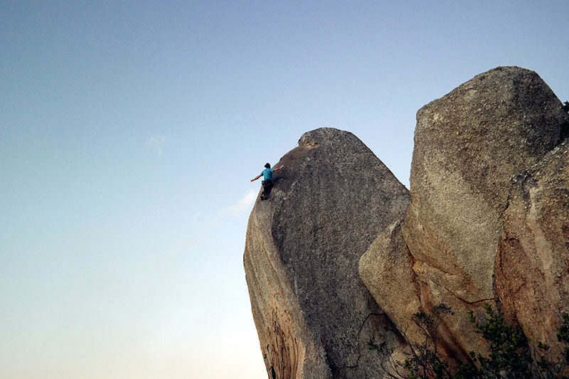 Matt Bush climbing