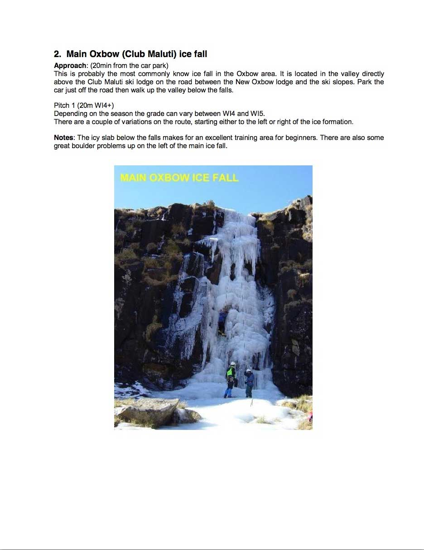 Main Oxbow (Club Maluti) ice fall