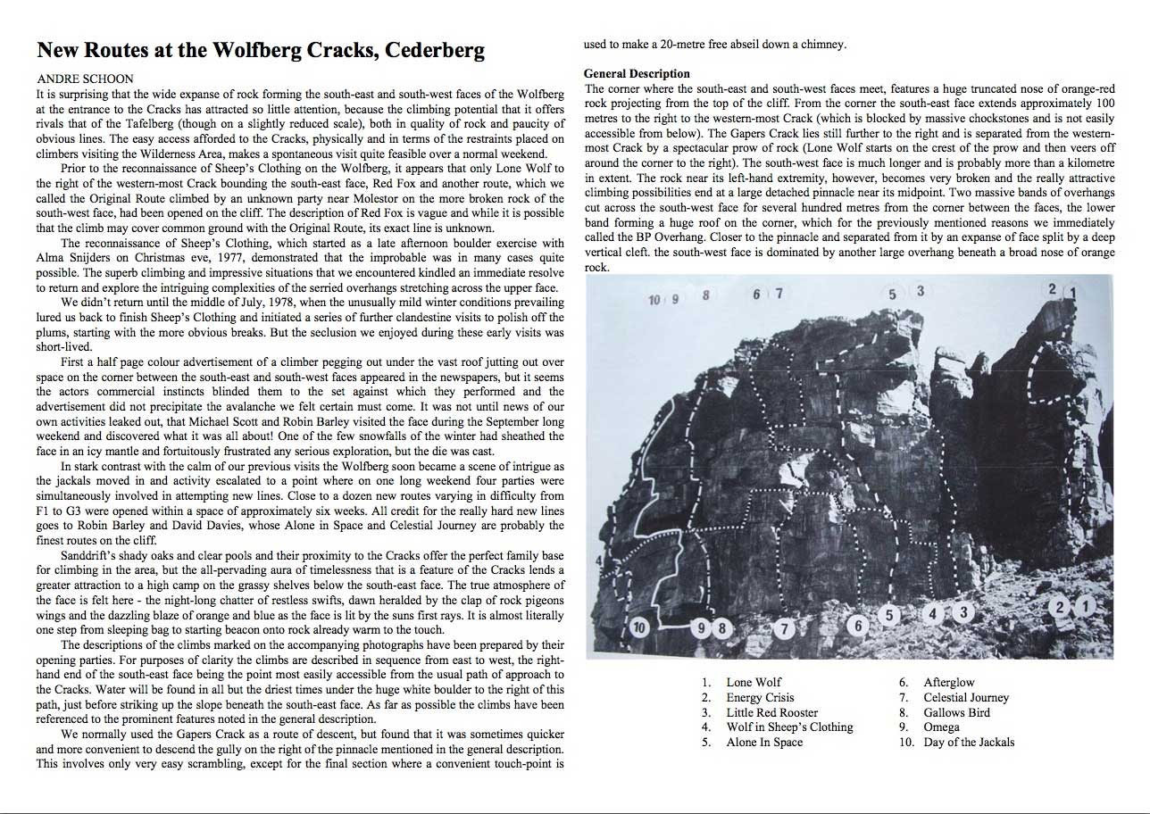 Wolfberg Cracks Trad Climbing - Cederberg