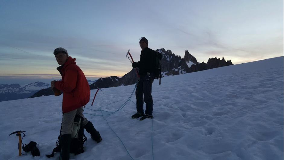 Ascent of the Ag Chardonnet, Mont Blanc