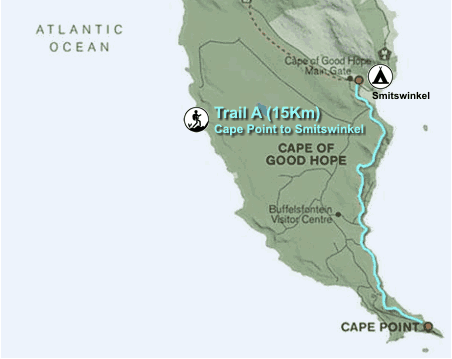Cape Point Hike Map