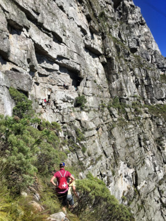 right face arrow traverse Table Mountain