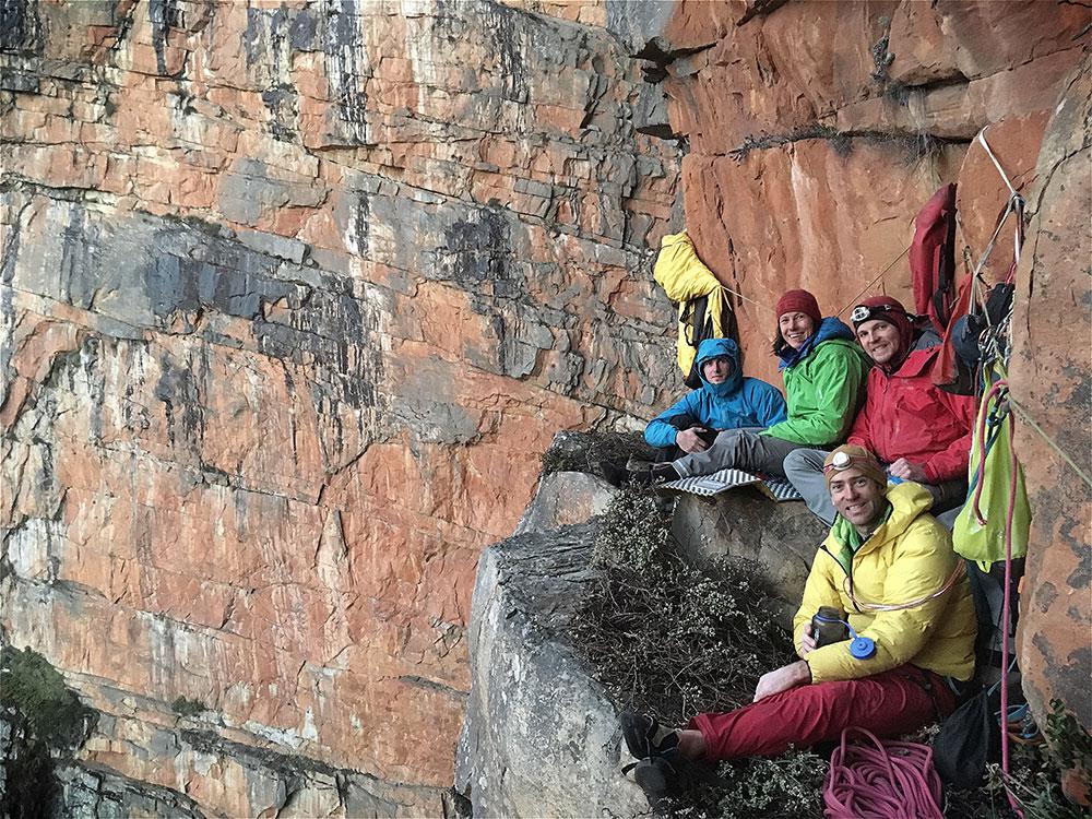 Slanghoek climbing ledge