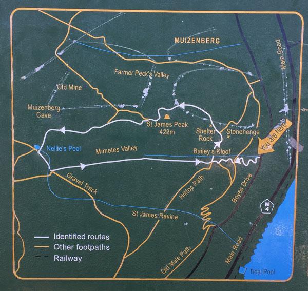 St James Hiking Trail map