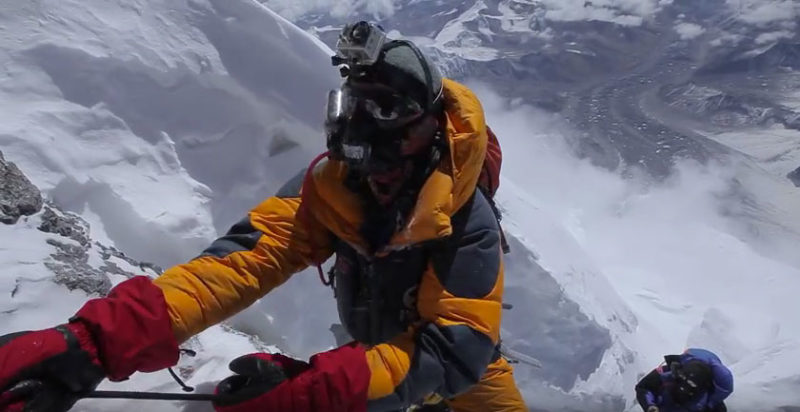 Everest summit video