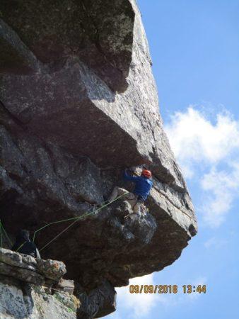 Rock climbing overhang