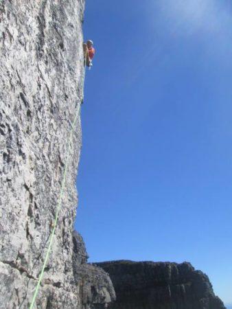 Rock climbing sky