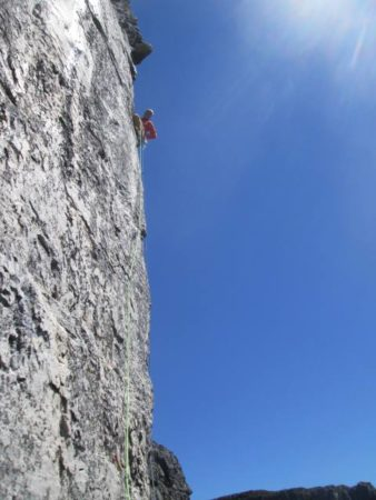Rock climbing Platteklip Gorge