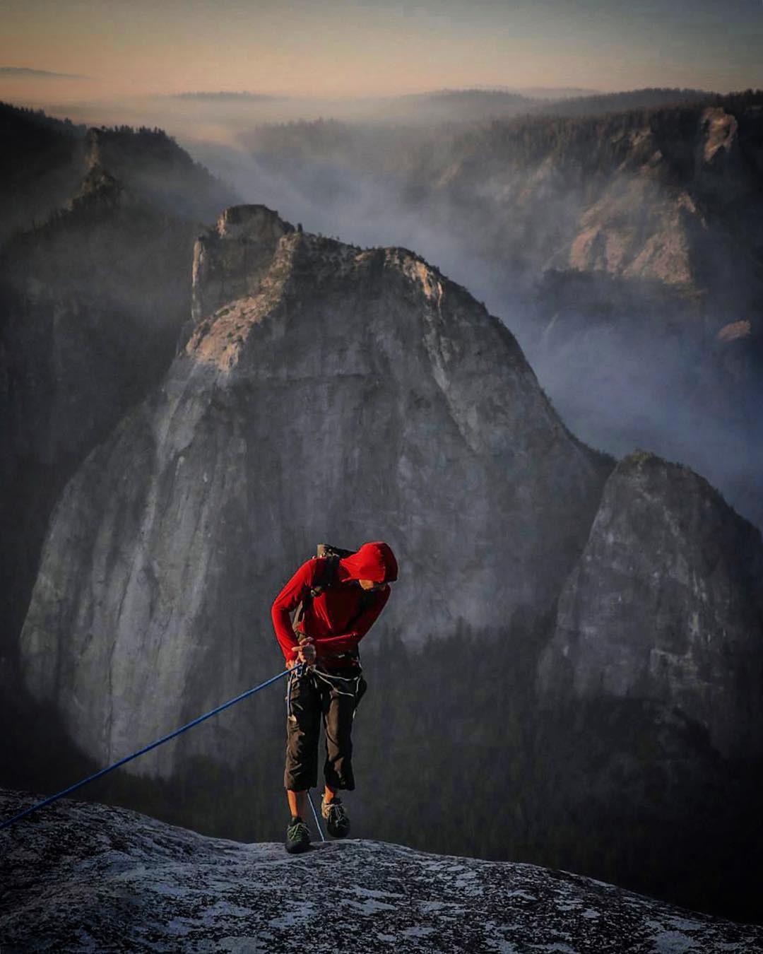 Abseil Yosemite alex honnold