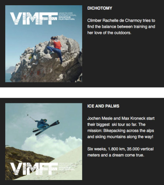 vimff Adventure programme