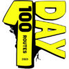100 routes in a day logo