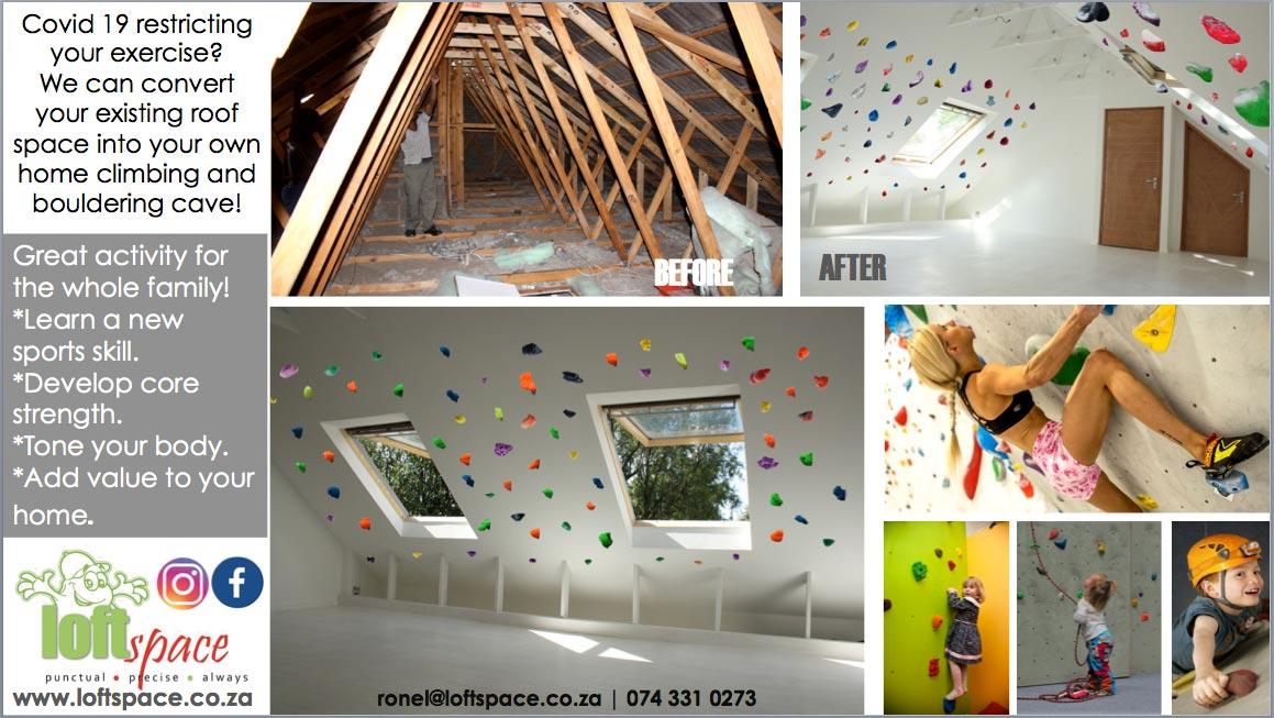 Loft Space Indoor Climbing Wall