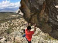 Guy Holwill bouldering in the Cederberg