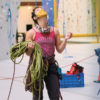 Route set rock climbing