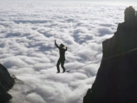 Above the clouds highline